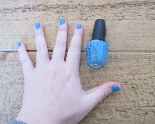 Picture of No room for the blues by opi on my nails